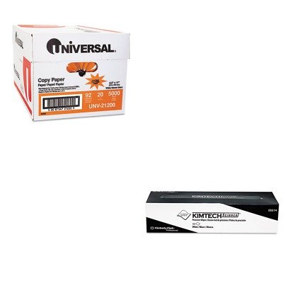 KITKIM05514UNV21200 - Value Kit - KIMBERLY CLARK KIMTECH SCIENCE Precision Wipes Tissue Wiper (KIM05514) and Universal Copy Paper (UNV21200)