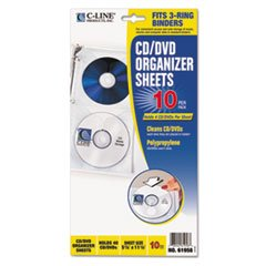 Double Sided Cd Sleeves Slide ((3 Pack Value Bundle) CLI61958 Deluxe CD Ring Binder Storage Pages, Standard, 4 CDs, 5 13/16 x 11 1/16, 10/PK)