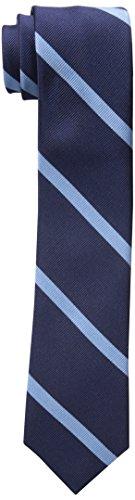 Tommy Hilfiger Men's Thin Bar Stripe Slim Tie, Blue, One Size