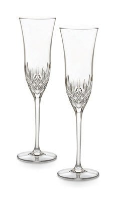 Waterford Crystal Lismore Essence Champagne Flute, Set of (Lismore Essence Crystal)