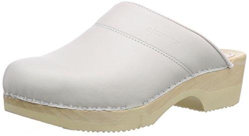 Gevavi 4010 BIGHORN flexibler CLOG - Zuecos de piel Unisex adulto Blanco - Weiß (weiss(weiss) 01)