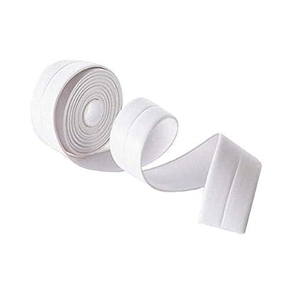 KaLaiXing Tub and Wall Caulk Strip. Kitchen Caulk Tape Bathroom Wall Sealing Tape Waterproof Self-Adhesive Decorative Trim-White