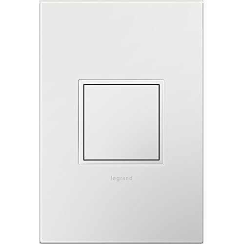 Legrand adorne Pop-OutTM Outlet and White Wall Plate, ARPTR151GW2WP