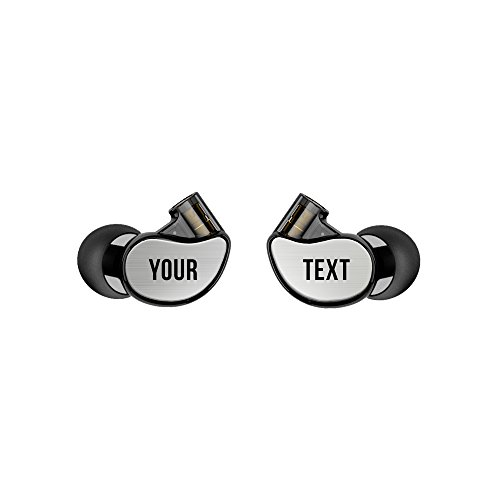 MEE audio M6 PRO 2nd generation Universal-Fit Noise-Isolating Musicians' In-Ear Monitors with Custom-Engraved Text Metal Plates (Smoke) by MEE audio