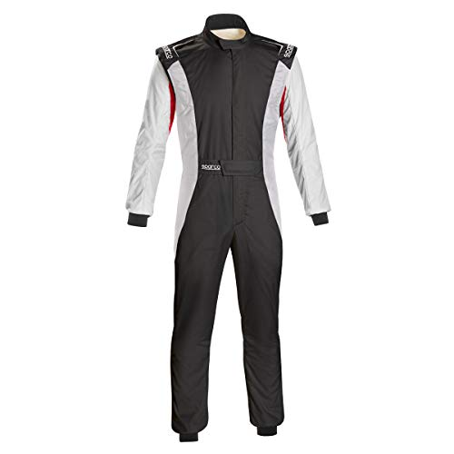 (Sparco Competition US Racing Suit 001128SFI (Size: 54, Black/White))