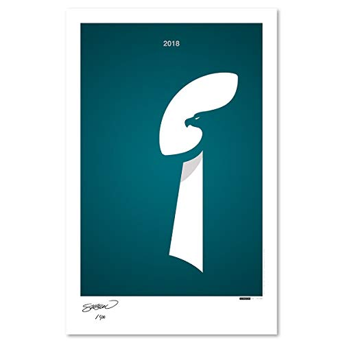 NFL Super Bowl 2018 - Limited Edition Philadelphia Eagles Minimalist Art Poster Print (11X17 Inches)