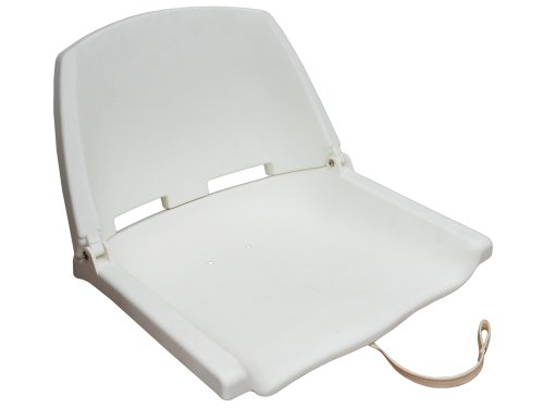 Fold Down Deluxe Marine White Seat for Boat - Fishing - Five (Fold Down Boat Seat)