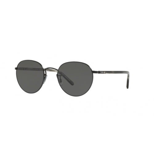 Oliver Peoples Unisex Hassett Matte Black/Semi-Matte Ebonywood/Midnight Express Polarized - Sunglasses Express