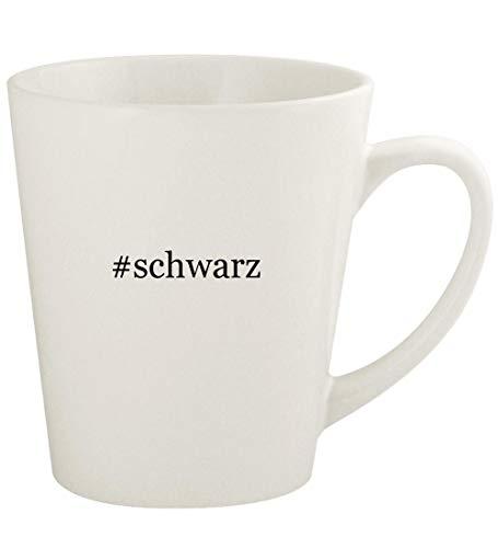 #schwarz - 12oz Hashtag Ceramic Latte Coffee Mug Cup, White (Damen Alles In Einem Badeanzug)