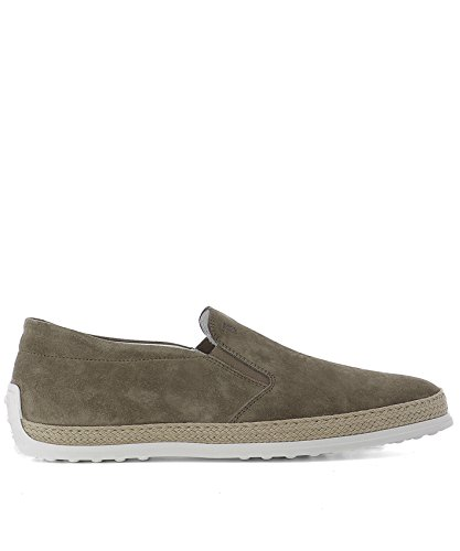 Tod's Slip On Sneakers Uomo Xxm0tv0k900re0c405 Camoscio Grigio