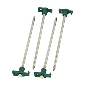 Coleman 10 In. Steel Nail Tent Pegs, 4 Count