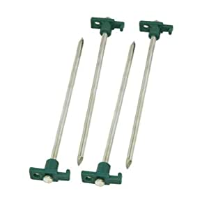 Coleman 10-In. Steel Nail Tent Pegs, 4 Count