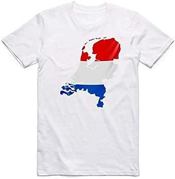 White Netherlands Flag T-Shirt For Men