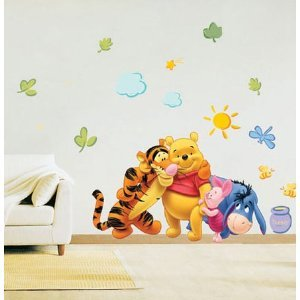 Amazon De Disney Winnie The Pooh Wandsticker Wandtattoo