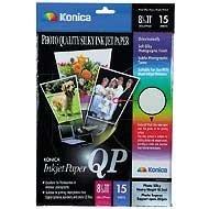 Konica LBENC5R QP Premium Photo Inkjet Paper (8.5x11, 15 Sheets) - Konica Photo Paper