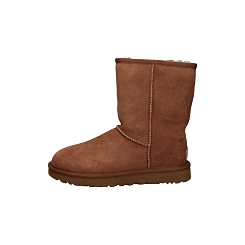 (UGG Women's Classic Short II Suede Sheepskin Pull On Boot Chestnut-Chestnut-4)