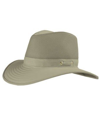 Tilley Unisex TM10 Wide Brim with Cooling Mesh UPF 50+ Hat, 7 5/8 or 23 7/8 in. Special Order, Khaki with Olive Underbrim
