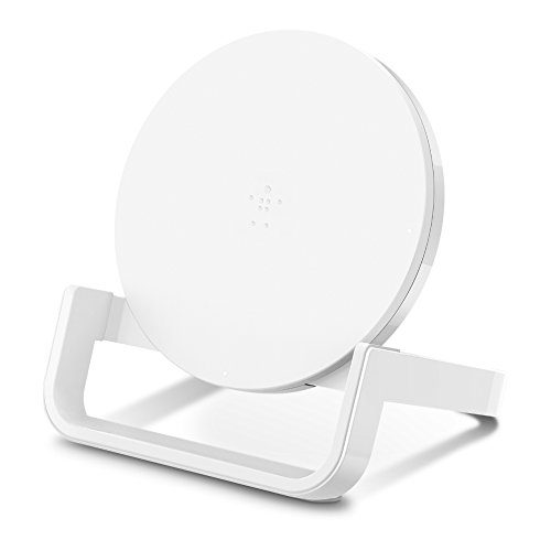 Belkin Boost Up Wireless Charging Stand 10W - Qi Wireless Charger for iPhone XS, XS Max, XR / Samsung Galaxy S9, S9+, Note9 / LG, Sony and more (White)