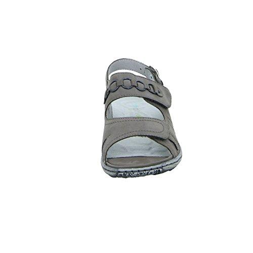 Waldlã¤ufer 210004 191 088 Vrouwen Het Comfort Sandalette Grijs (grijs)