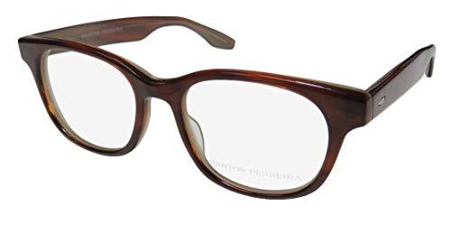 Barton Perreira Wendel Mens/Womens Designer Full-rim Adult Size Ophthalmic Eyeglasses/Eyeglass Frame (49-18-148, Brown) (New Fashion Brillen Frames)