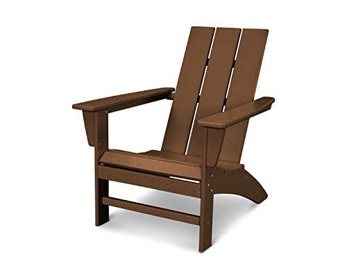 POLYWOOD AD420TE Modern Adirondack Chair, Teak ()