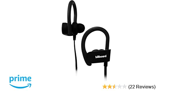 Amazon.com: Billboard Bluetooth Wireless Hook Over Earbuds With Tangle Free Flat Cord, Controls and Microphone - Black: BILLBOARD: Cell Phones & Accessories