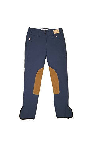 Tailored Sportsman Ladies Trophy Hunter Low Rise Front Zip Breech French Blue/Tan (26R) ()