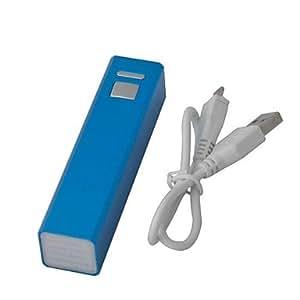 Caso Calidad Premium Caja Metálica Usb Power Bank 2600Mah Para Los Teléfonos Móviles Azul Claro