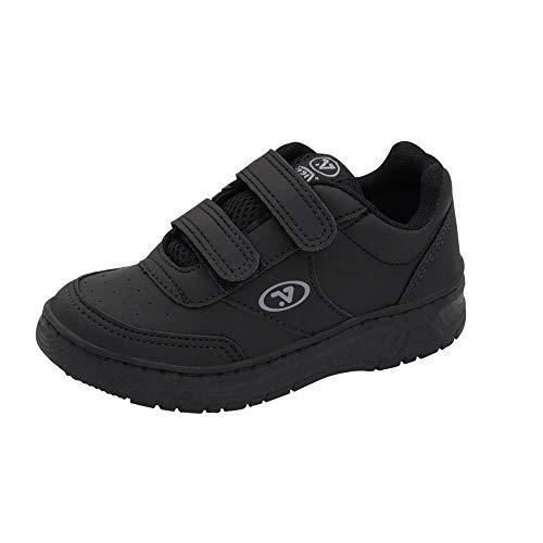 Tenis de Velcro Escolar Colegial Infantil Preto 24
