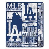 The Northwest Company Los Angeles Dodgers MLB Light Weight Fleece Blanket (Strength Series) (50inx60in)