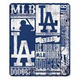 The Northwest Company Los Angeles Dodgers MLB Light Weight Fleece Blanket (Strength Series) (50inx60in)