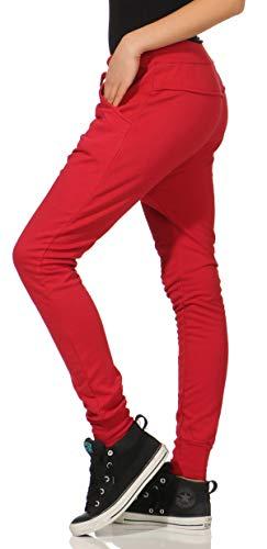 Classic Aladin Pantalón Boyfriend Malito 8023 Talla Rojo Única 2 Botón Sudadera Baggy Bombacho Mujer nEqXEdr