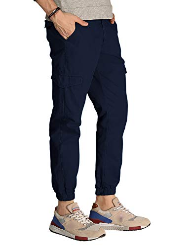 Match Men's Regular Fit Chino Jogger Cargo Pant(32, 6045 Blue)