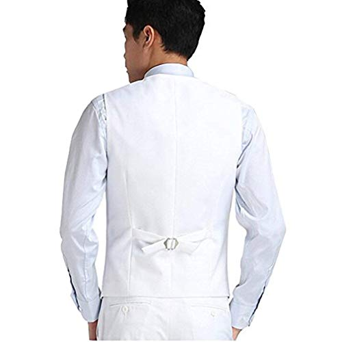 Stretto Vest Casual Targogo Gilet Vintage Elegante Plaid Festoso Uomo Da Bianca Business ZZvwq87