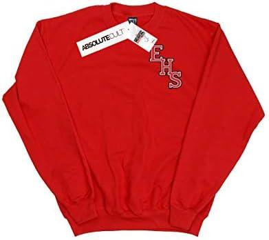Disney Herren High School Musical The Musical EHS Logo Breast Print Sweatshirt Rot Large