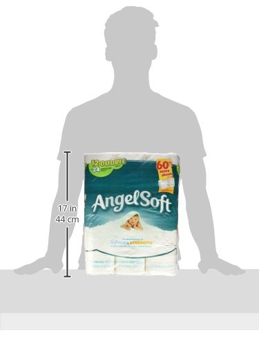 030400773778 - Angel Soft Toilet Paper, Bath Tissue, 12 Double Rolls carousel main 5