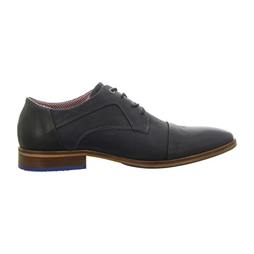 BULLBOXER 699k26303ap656 - Zapatos de cordones de Piel Lisa para hombre, color azul, talla 41 EU