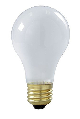 Satco 100A/RS/TF/2PK Incandescent Shatter Proof, 100W E26 A19, 12 Frosted Bulbs ()