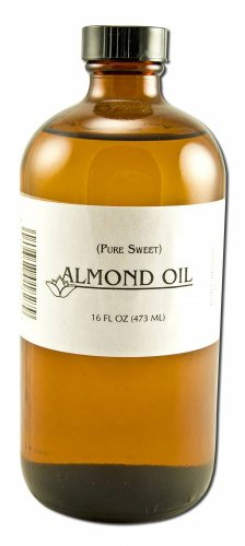 Lotus Light Pure Essential Oils - plain label Almond (Pure Sweet) 16 oz (Amber)
