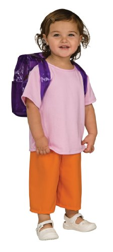 Dora Boots Halloween Costume (Rubies Dora The Explorer Deluxe Costume, Toddler)