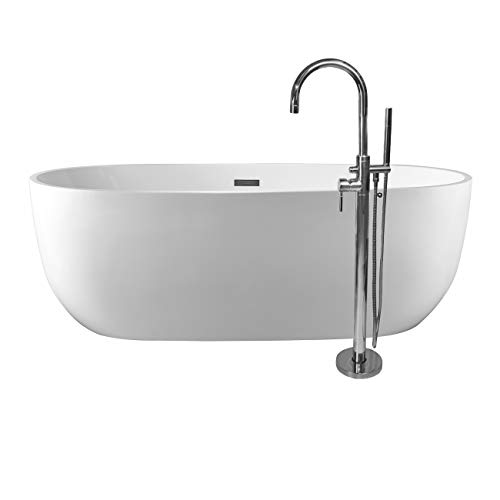 - Randolph Morris Zoey 67 Inch Acrylic Double Ended Freestanding Tub Package - No Faucet Drillings