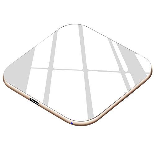 Te-Rich 15W Máximo Cargador inalámbrico Cargador Qi 10W para Samsung Galaxy y Note 10/10+/9/S10/S9/S8+/S8/Huawei P30Pro…