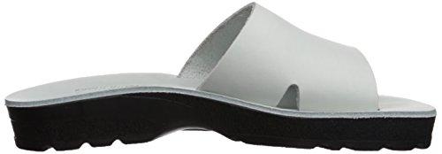 Jerusalem Sandaler Kvinners Basan Såle Gir Glide Sandal Hvit