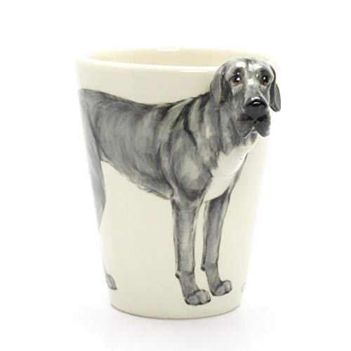 - Blue Great Dane Uncropped Ears 00007 Mug Ceramic Coffee Cup Original hand sculpt and hand paint Mug Spceial Gift for Dog lovers