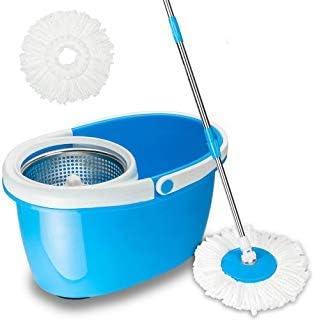 Microfiber Spinning Magic Spin Floor Mop Bucket 2 Head 360° Rotating Deep Clean