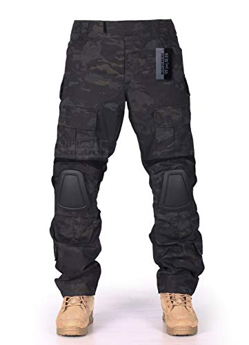 ZAPT Combat Gen3 Tactical Pants with Knee Pads for Mens Military Trousers Airsoft Paintball BDU Camouflage Apparel