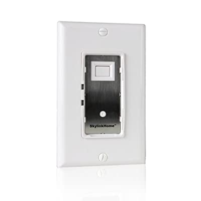 SkylinkHome WE-001 In-Wall On / Off Wall Switch Lighting Control Home Automation Smart Light Remote Controllable Light Receiver, SkylinkNet Compatible Easy DIY Installation without neutral wire