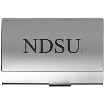 University of South Dakota Silver Two-Tone Business Card Holder