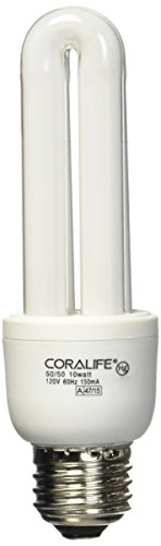 6700k Compact Bulb - Coralife 05509 Mini Compact Fluorescent 50/50 Colormax Lamp, 10-Watt