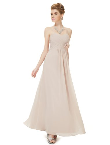 HE08233KQ08, Khaki, 6US, Ever Pretty Long Evening Gowns For Wedding 08233